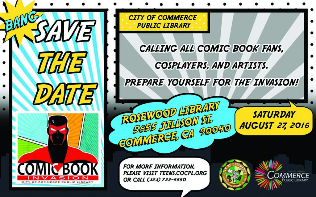 Comic Book Invasion Save the Date
