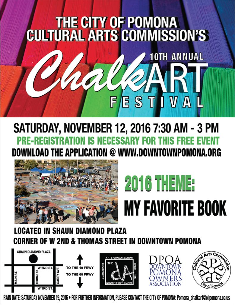 chalk art 2016 white flyer