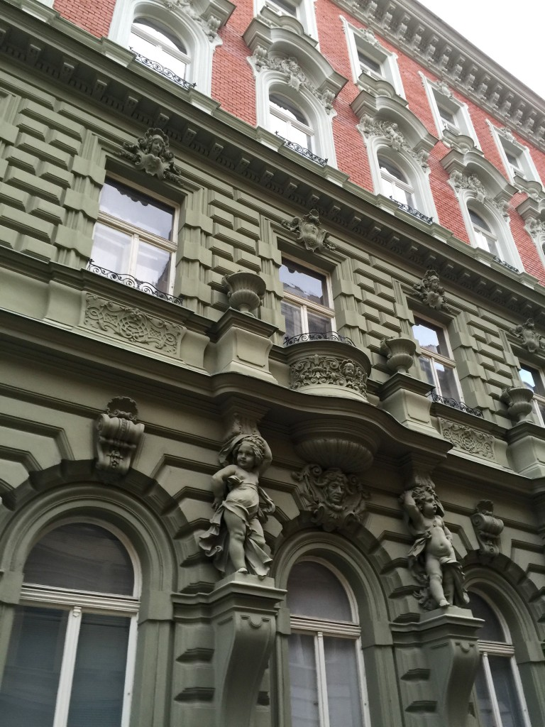 The apartment buildings typically look like this in Prague.