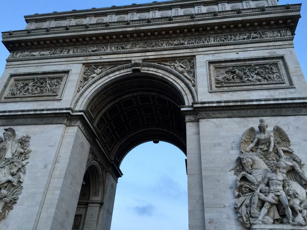 The Arc de Triomphe Monument.