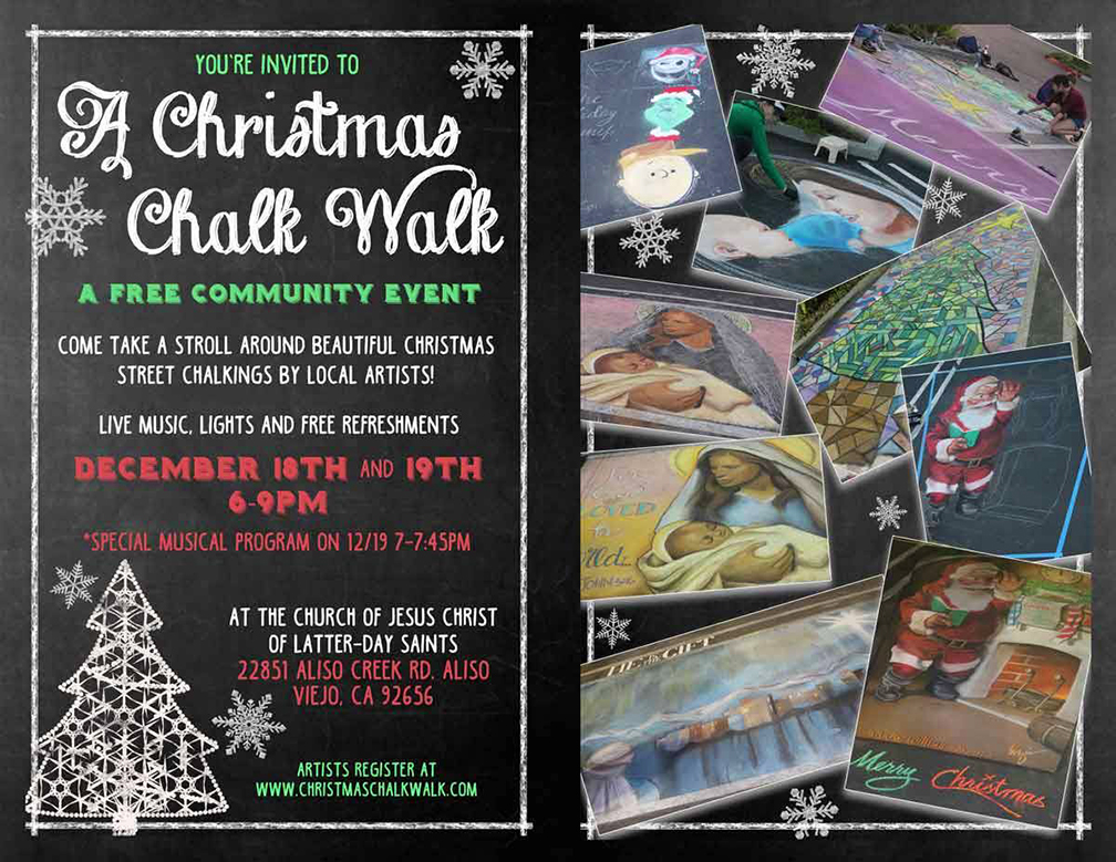 Christmas Chalk Walk 2015