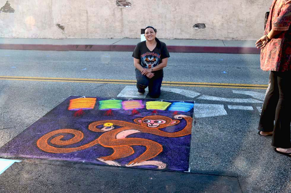 San Gabriel Lunar New Year Chalk Art