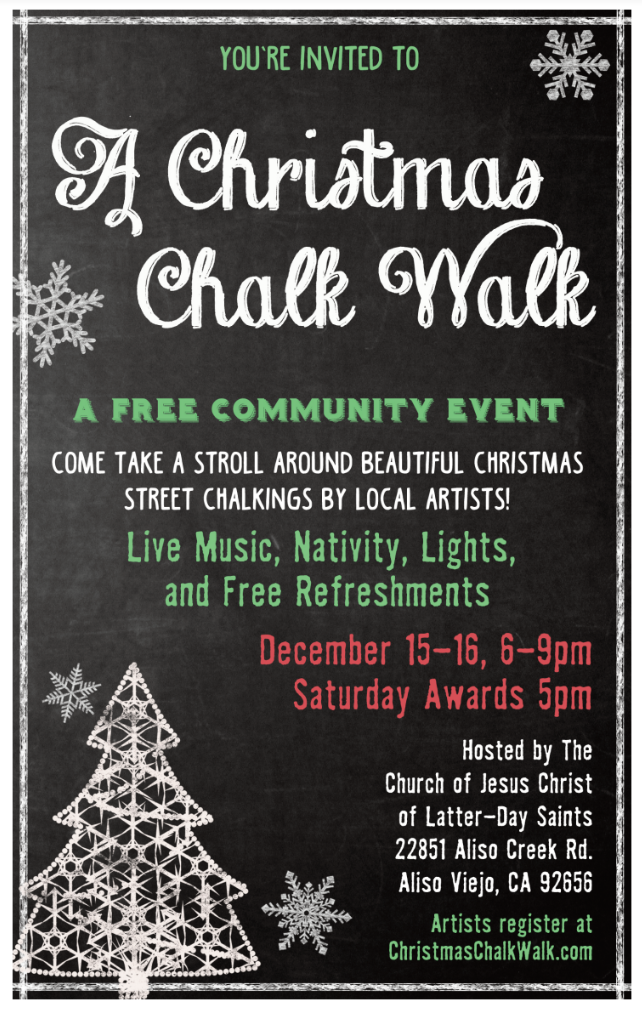 A Christmas Chalk Walk