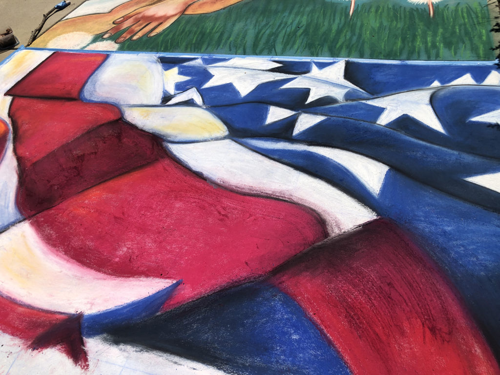 US flag art, almost finished