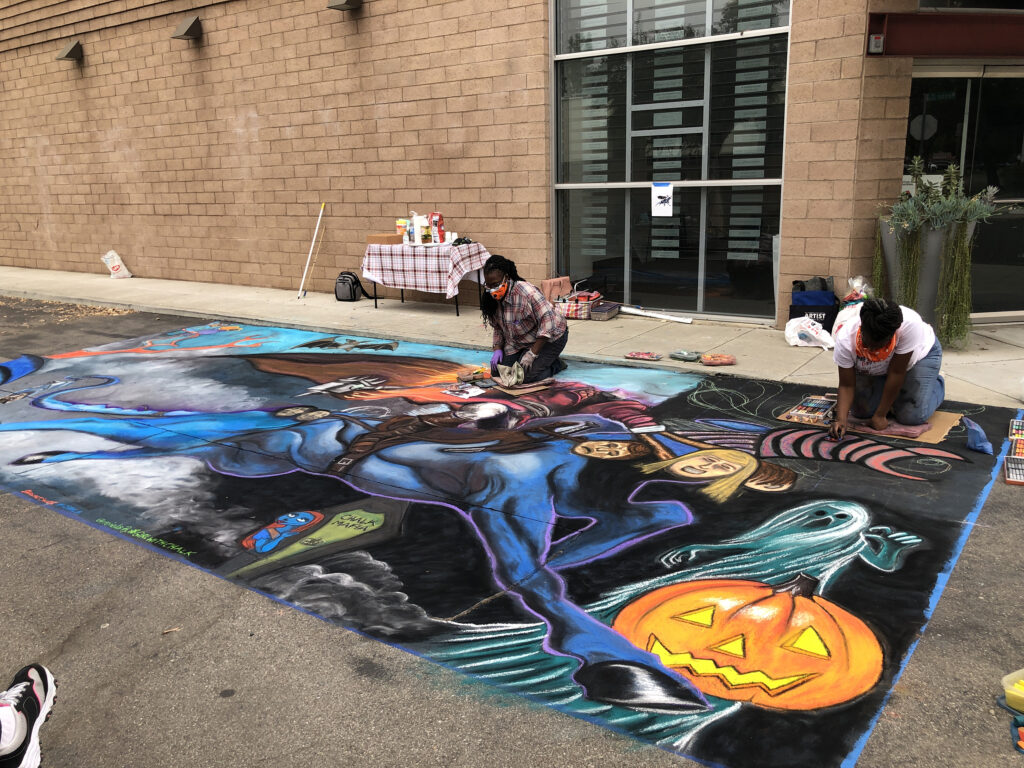 Halloween Headless Horseman Chalk Collaboration