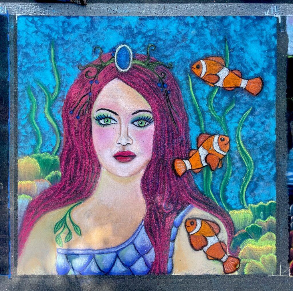 Mermaid Chalk Square
