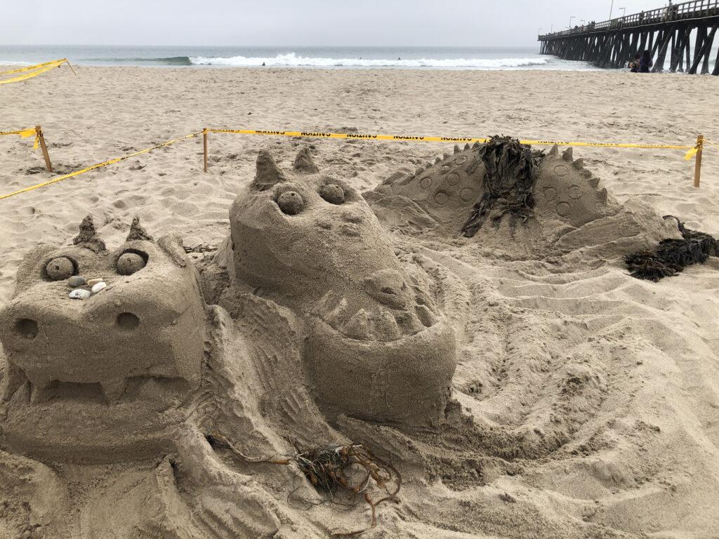 Sand Sea Monsters at Port Hueneme Beach